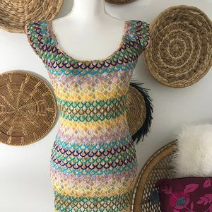 Missoni Mare Colorful Crochet Swimsuit Cover Up